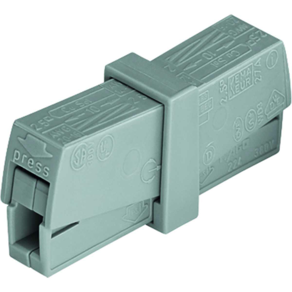 Conector Emenda 221-612 2 Deriv 6Mm2 Wago 3 Peças