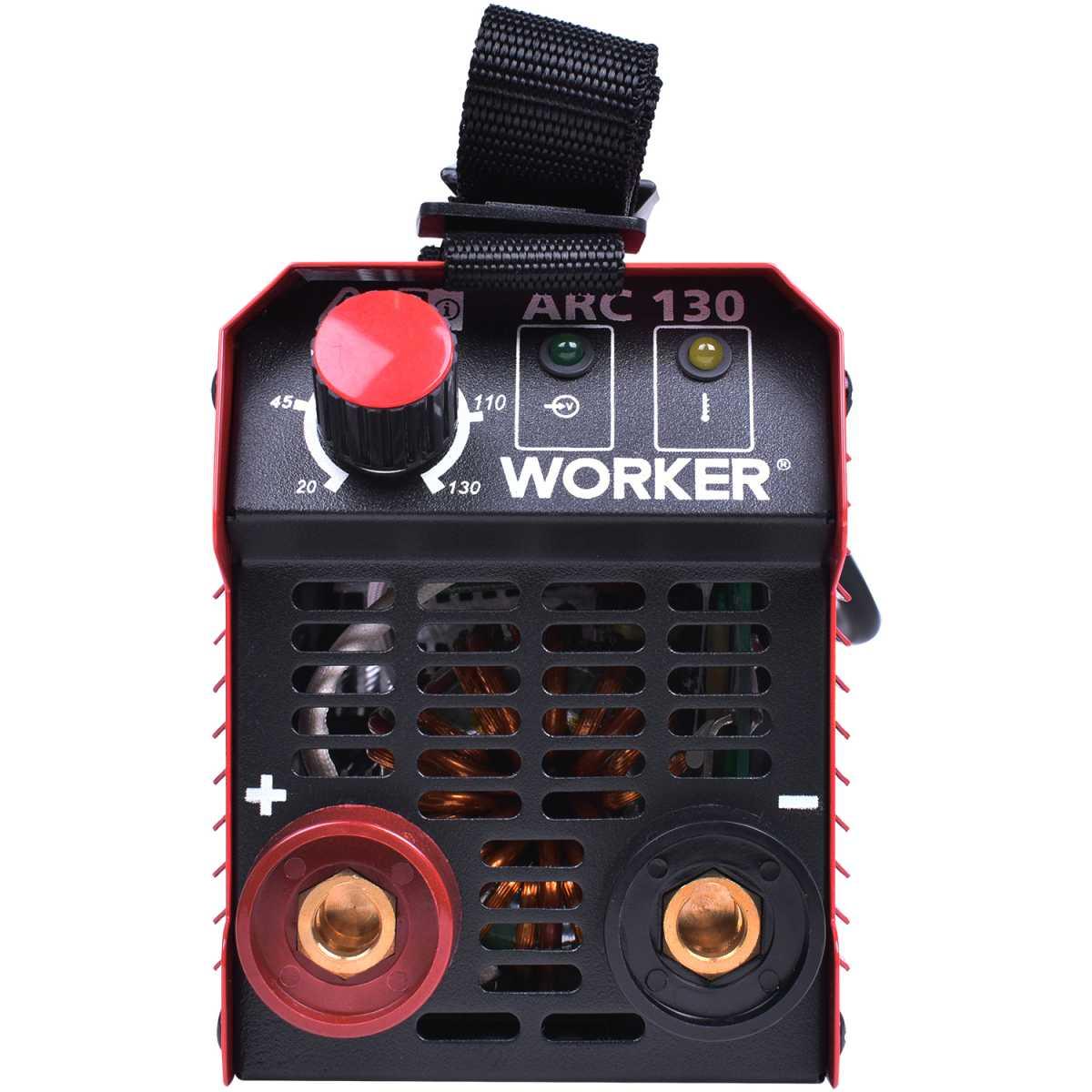Inversora de Solda Arc 130A 220V Worker
