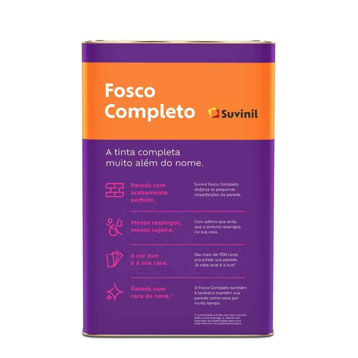 ACRÍLICO FOSCO COMPLETO BRANCO 18L SUVINIL