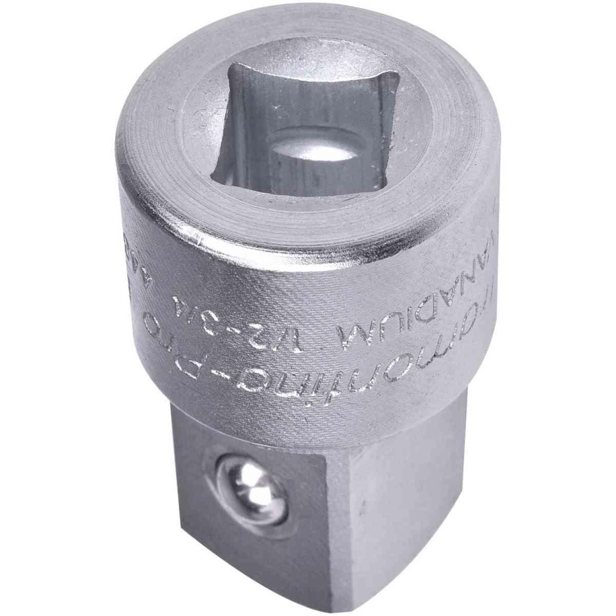 """Adaptador em Aço Cromo Vanádio - Encaixe 1/2"""" F x 3/4"""" M Tramontina 44848102"""
