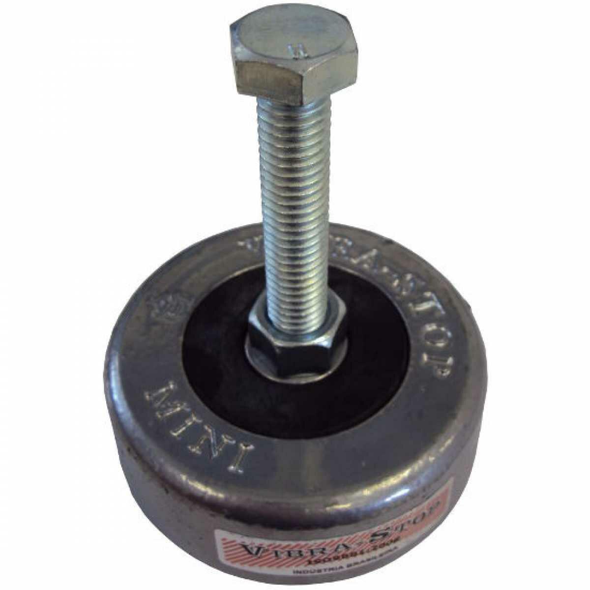 """Amortecedor de Impacto e Vibração Mini Vibra-Stop - Parafuso 1/2""""x3"""" Carga 500Kg"""