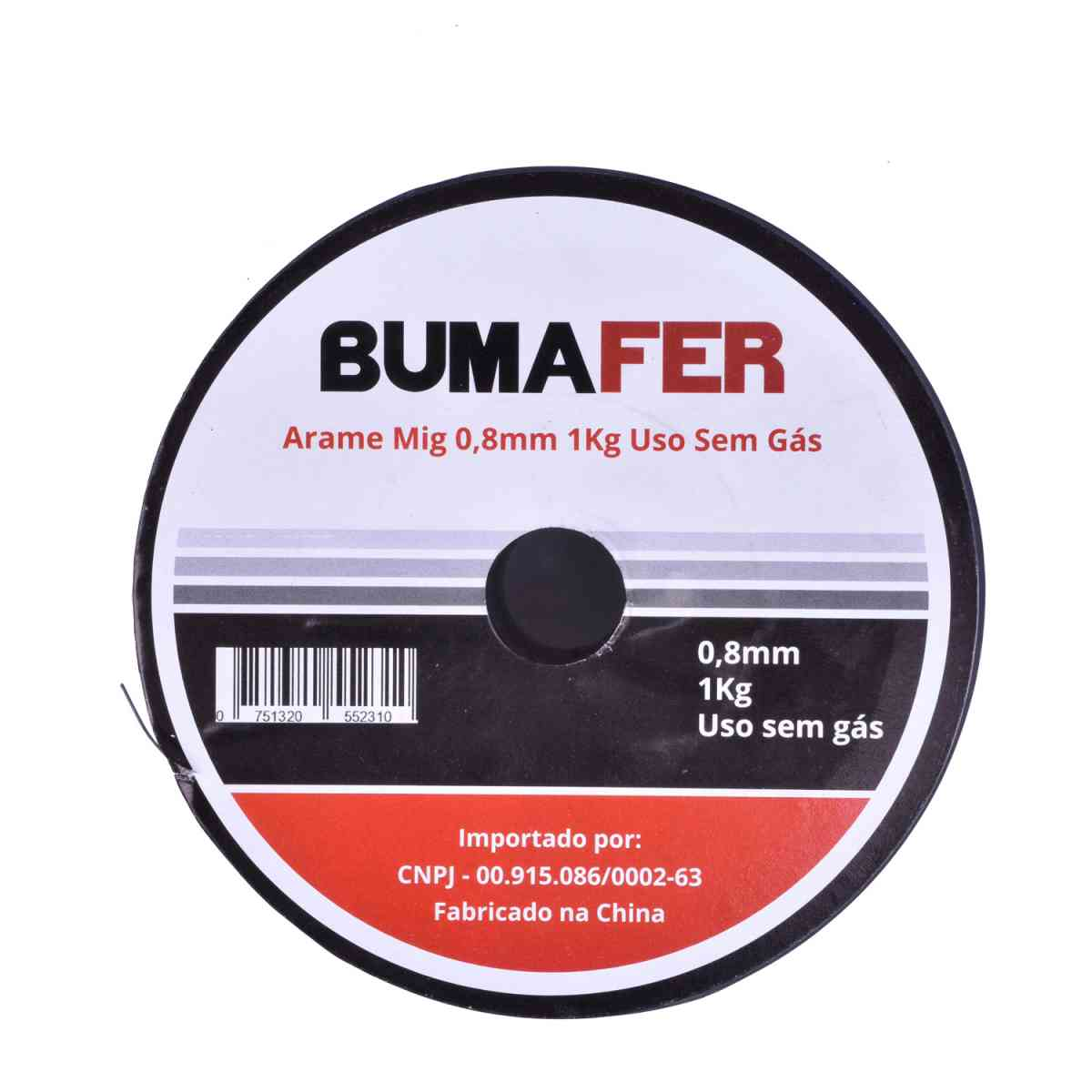 Arame de 0,8mm Para Solda Mig Sem Gás 1 Kg Bumafer