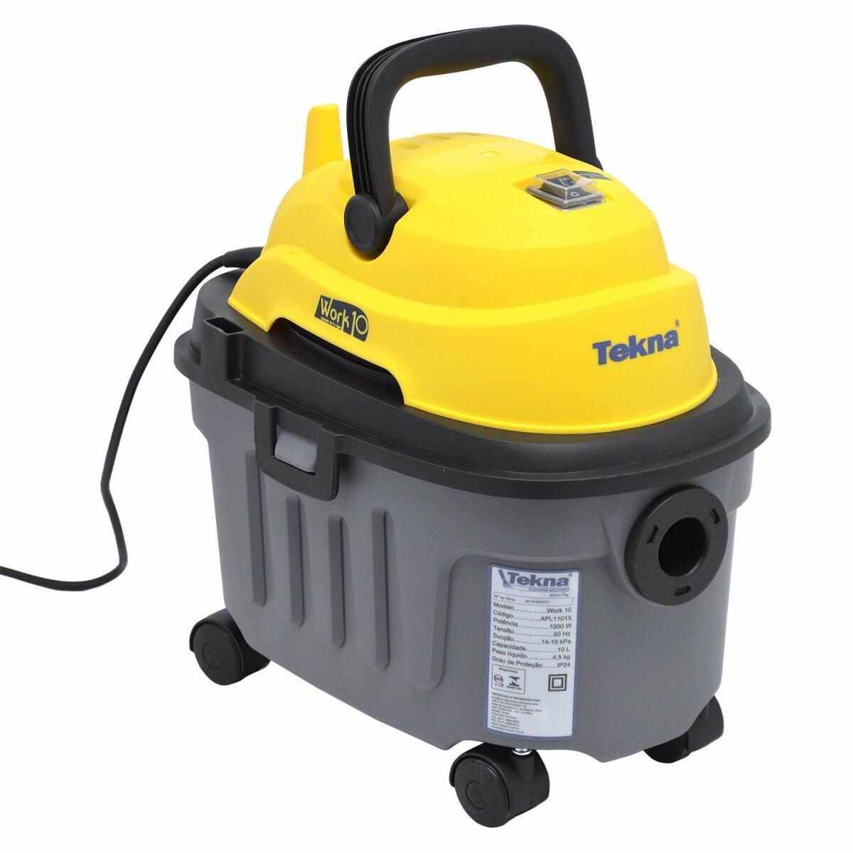 Aspirador De Pó E Água 1000W 10 Litros Work10 Tekna - 220V