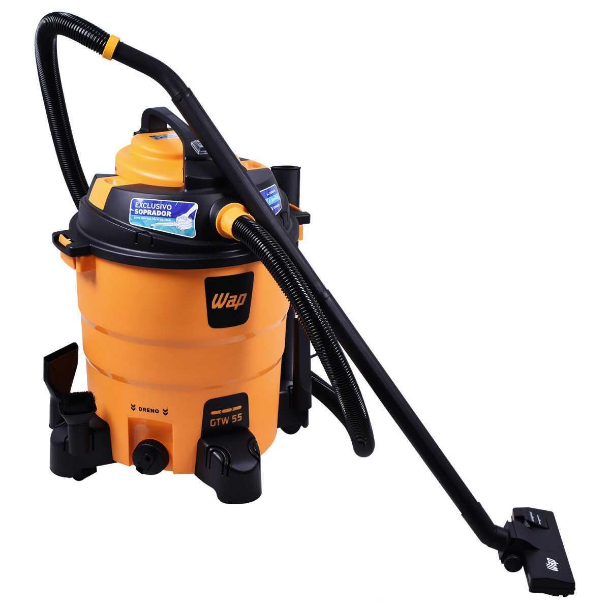 Soprador e Aspirador de Pó e Água 1600W 55 Litros Gtw55 Wap