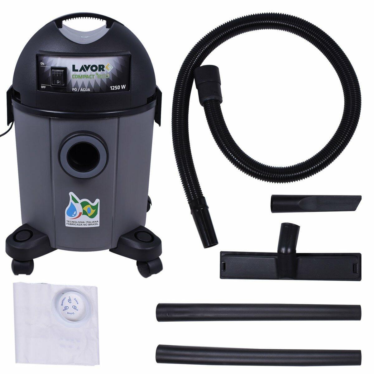 Aspirador De Pó E Líquido 1250W 22 LT Compact Lavor – 127V