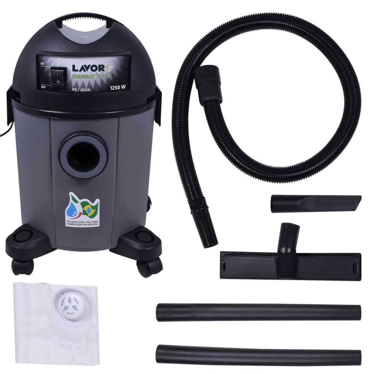 Aspirador De Pó E Líquido 1250W 22 LT Compact Lavor – 220V