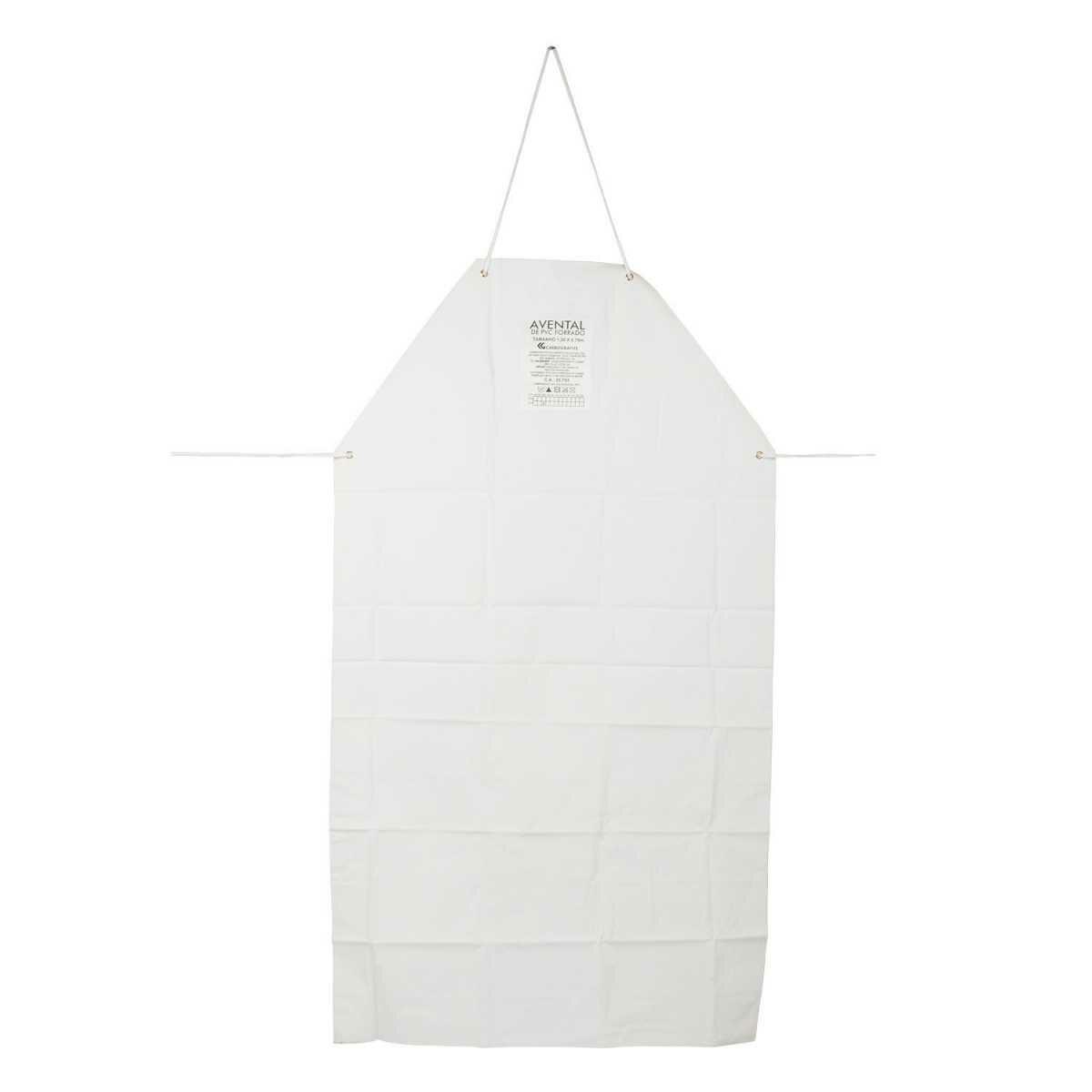 Avental Pvc Branco 1,20X0,70M Carbografite