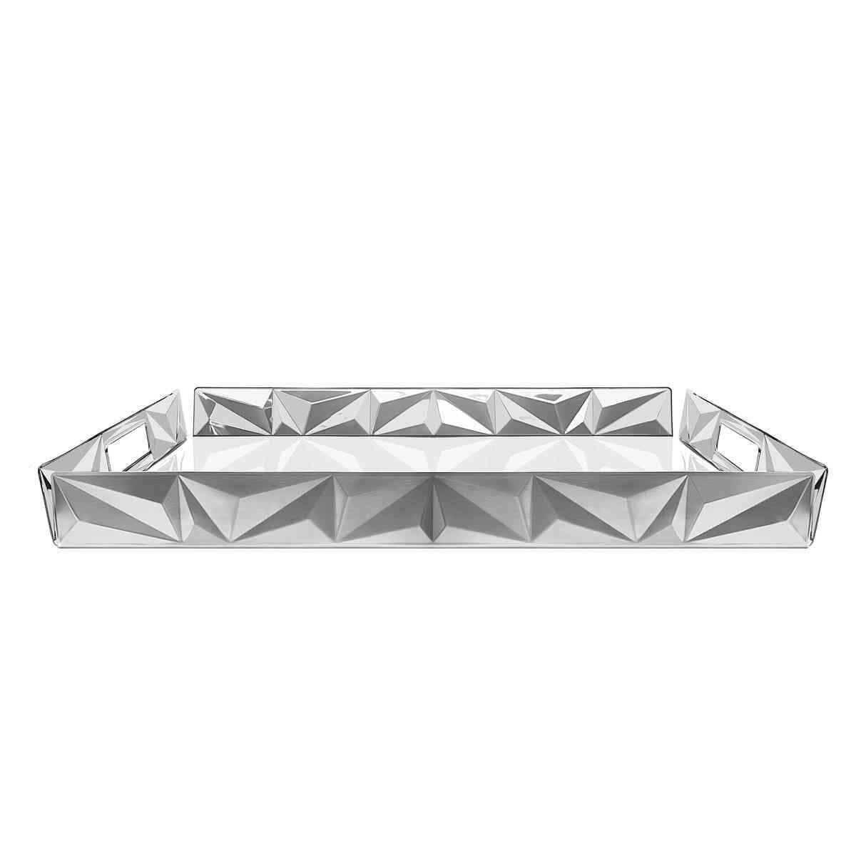 Bandeja retangular aço inox Tramontina 61560530