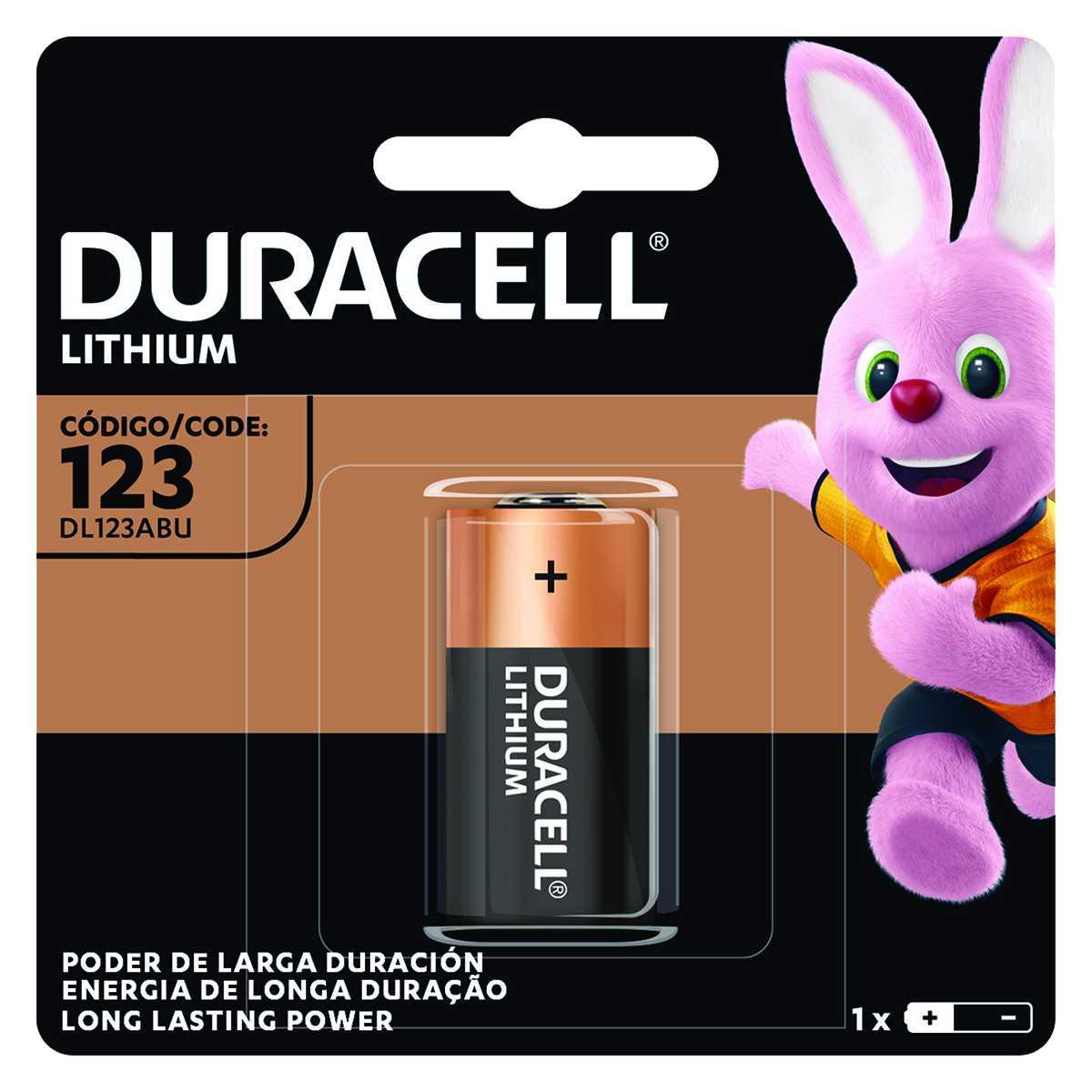 Bateria Cr123 Duracell Lithium 3V 1P