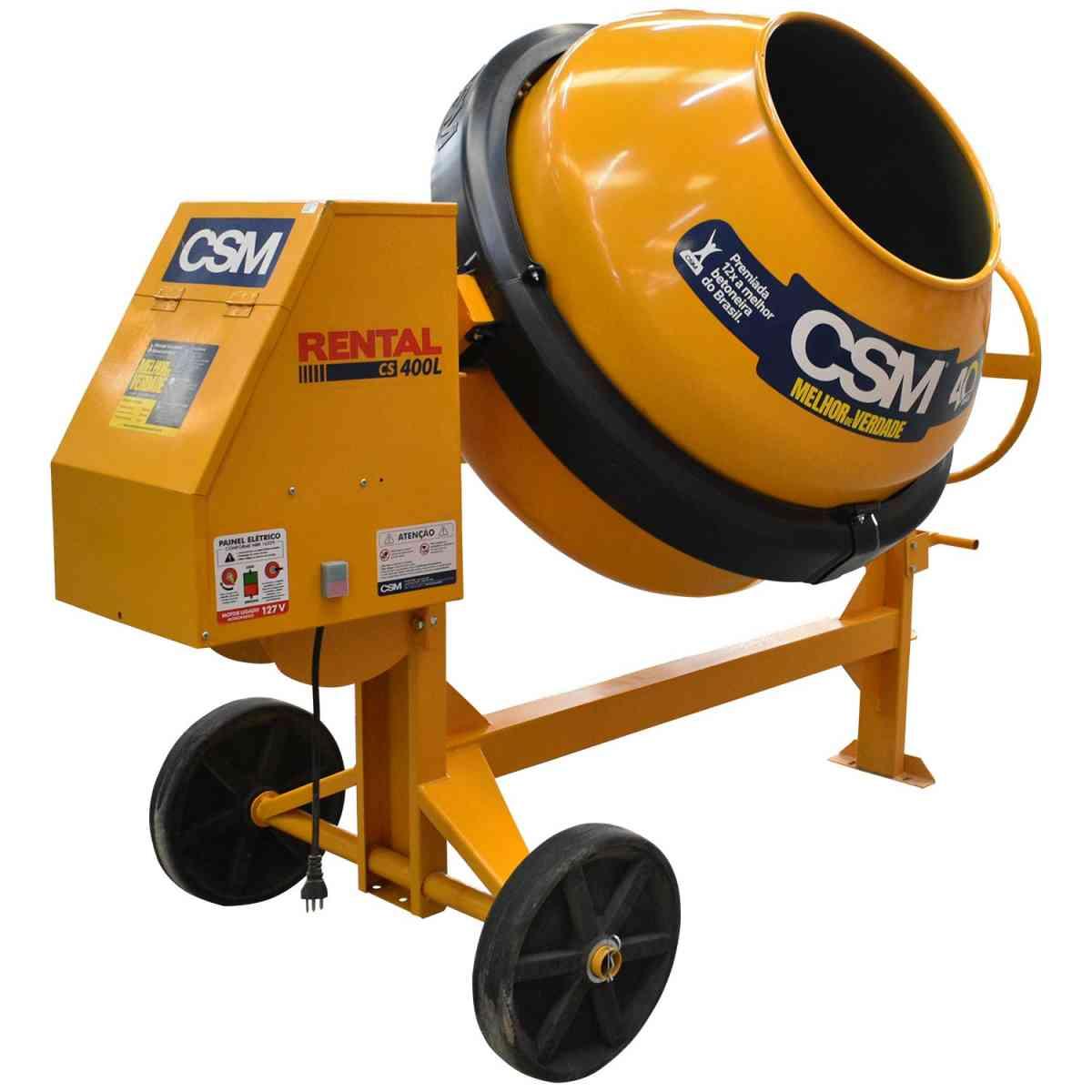 Betoneira Rental 400L com Motor e Painel Csm