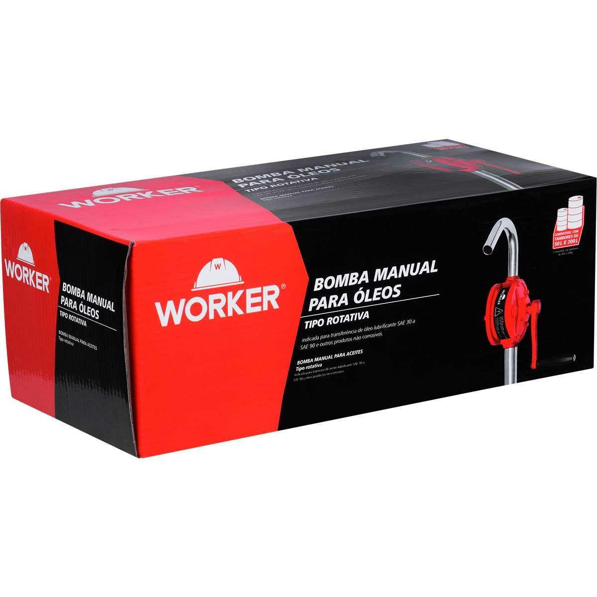 Bomba Manual Rotativa para Transferência de Óleo Worker