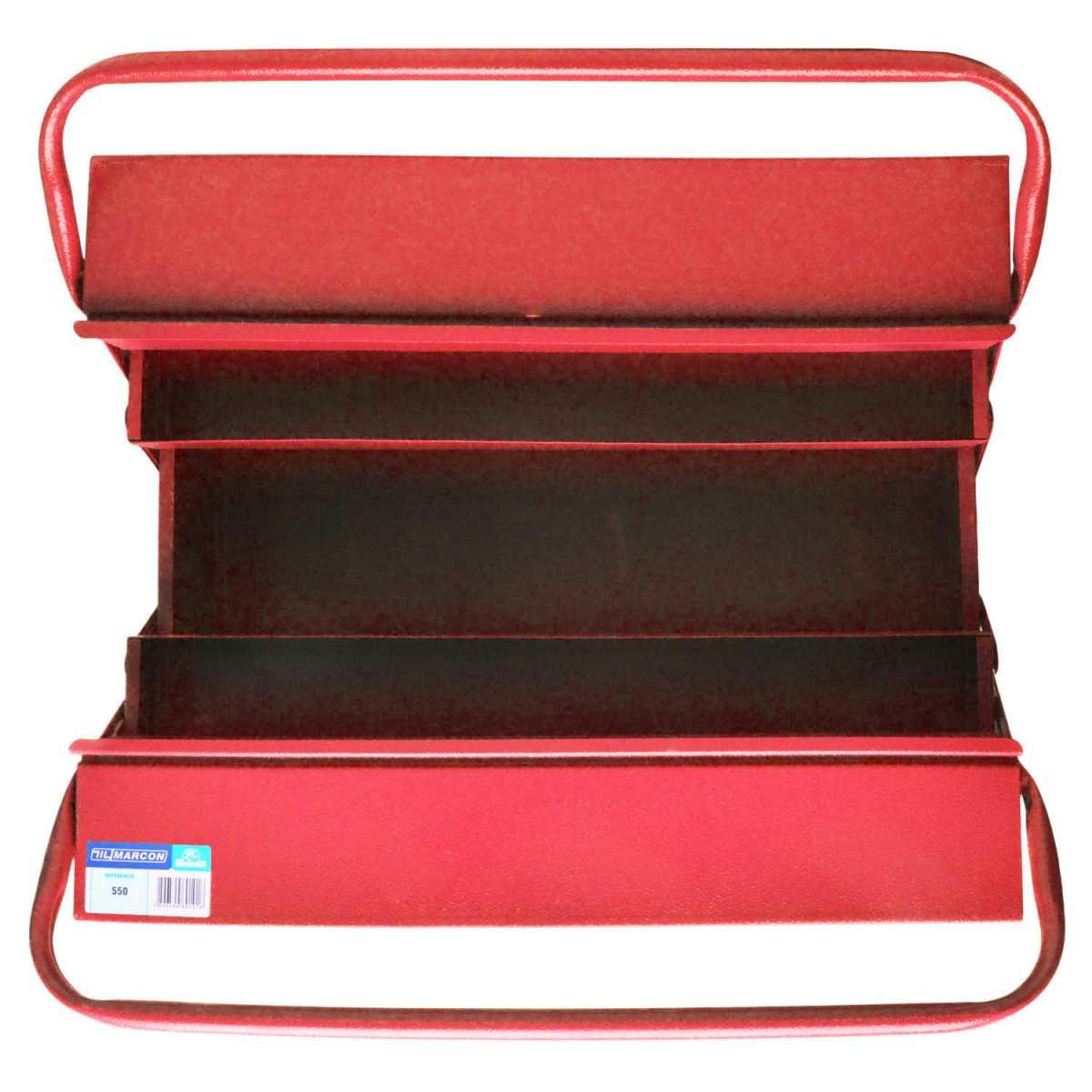 Caixa para Ferramentas com 5 Gavetas Cor Vermelha 550 Marcon