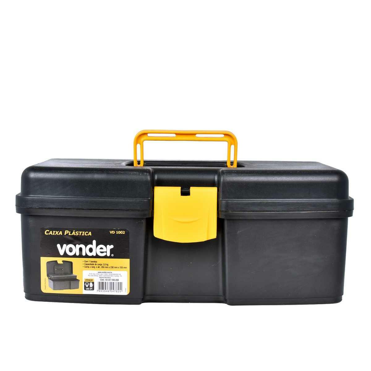 Caixa Plástica para Ferramentas com Bandeja Vd-1002 Vonder