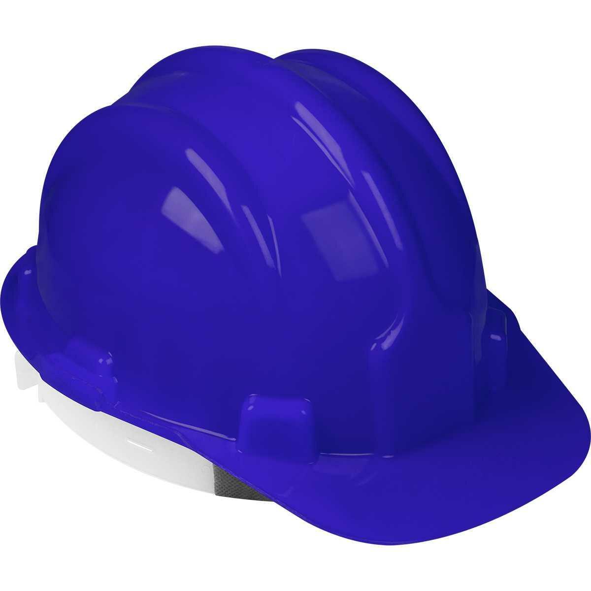 Capacete de Proteção Azul com Carneira Worker