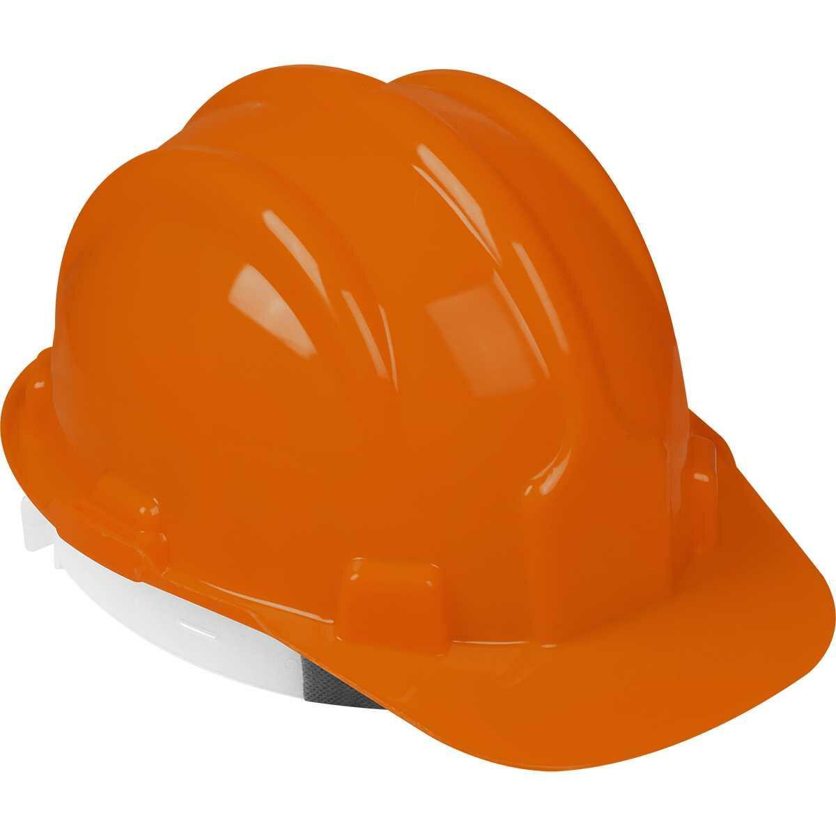 Capacete de Proteção Laranja com Carneira Worker