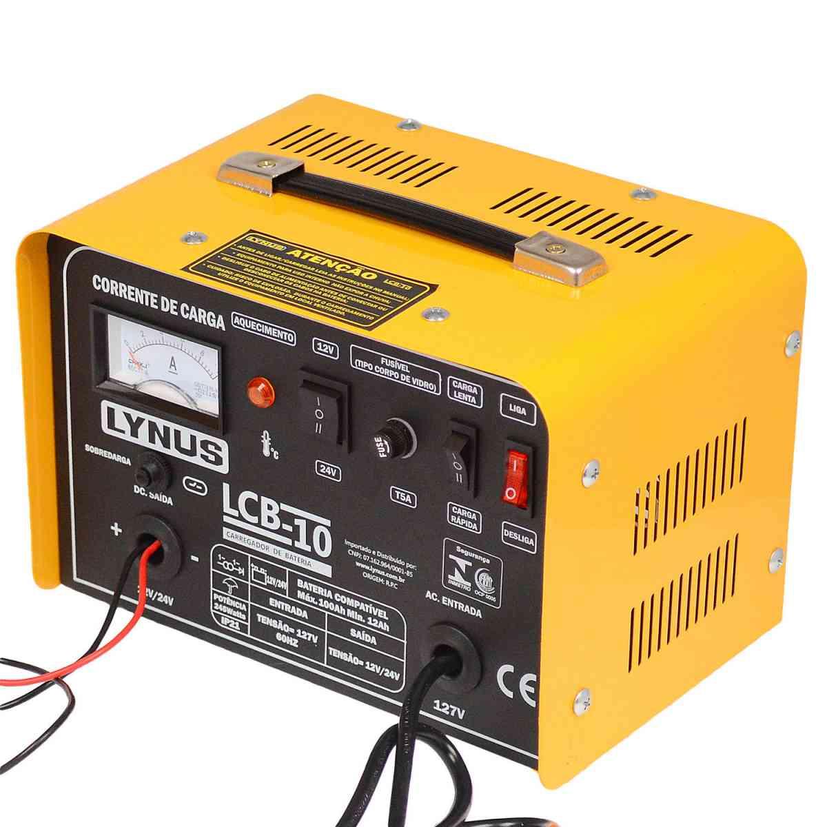 Carregador De Bateria 10A 12/24V Lcb-10 Lynus - 127V