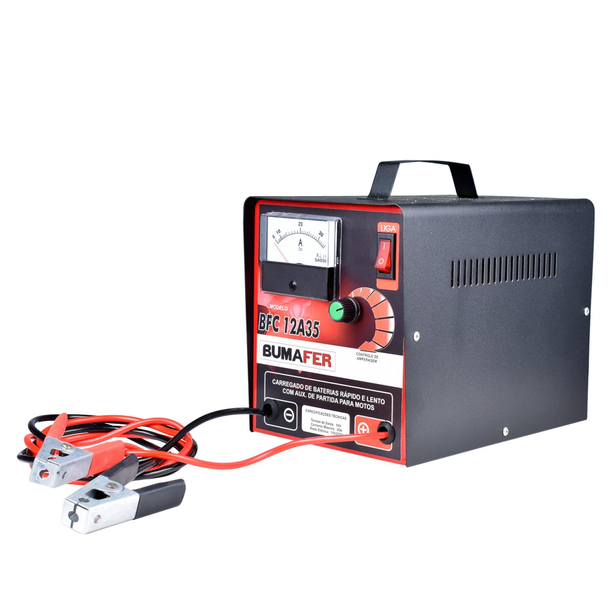 Carregador de Bateria 35 Amperes BFC12A35 Bumafer – Bivolt