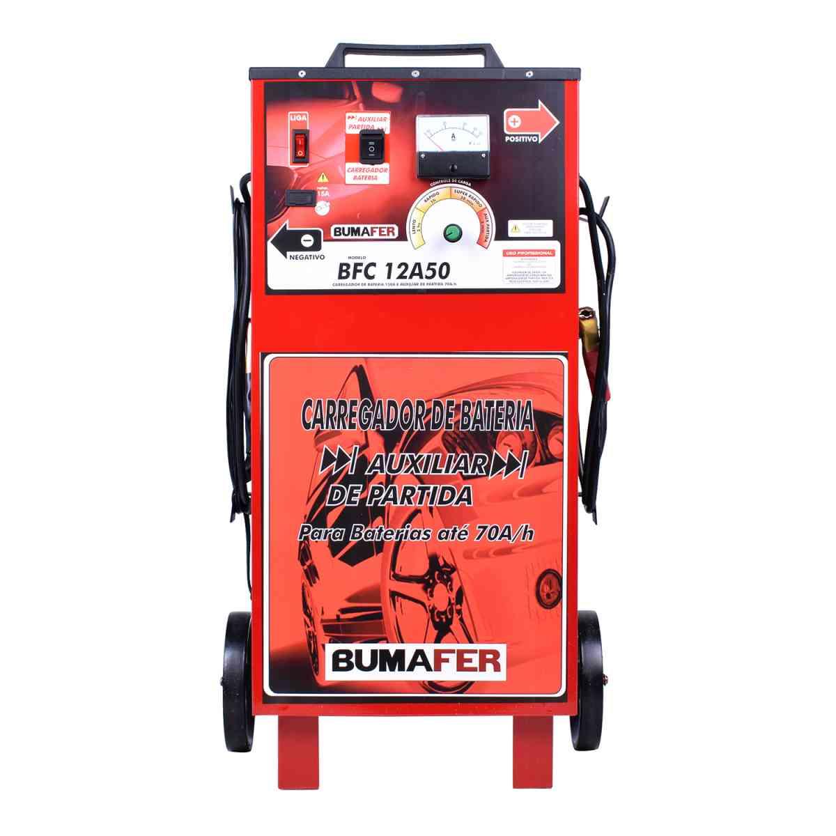 Carregador de Bateria 50 Amperes BFC12A50 Bumafer – Bivolt