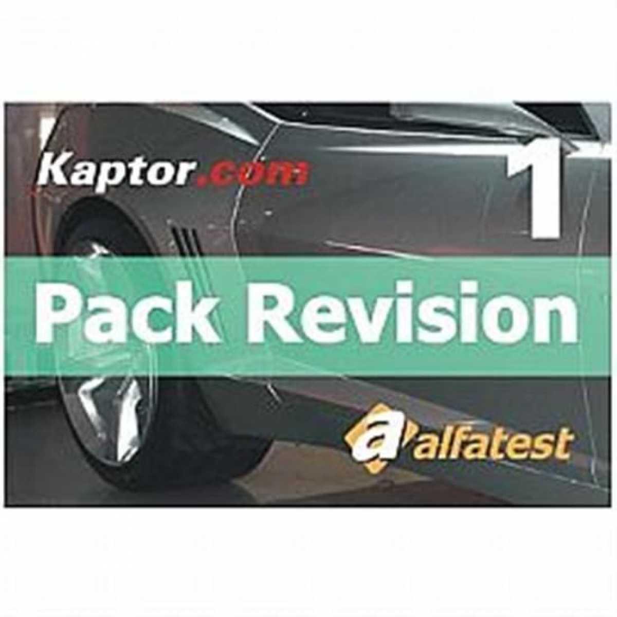 Cartao Pack Auto Revision 01 Alfatest