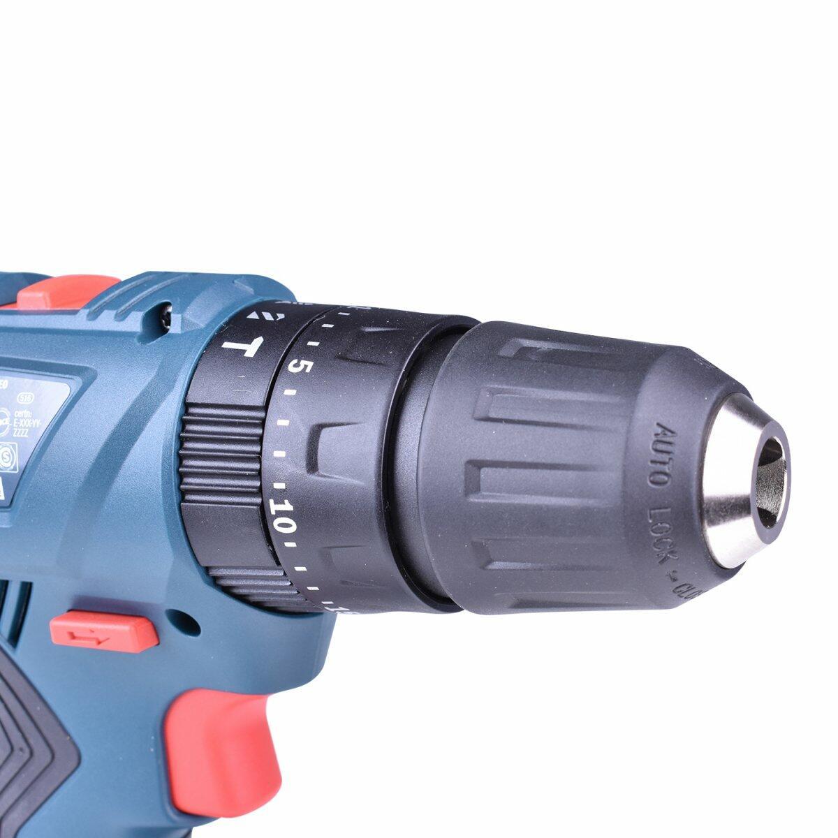 """Chave de Impacto 1/4"""" e 1/2"""" 18V Gdx180-LI + Parafusadeira / Furadeira de Impacto Gsb180-Li + Carregador com 2 Baterias 18V + Bolsa Ferramentas Bosch"""