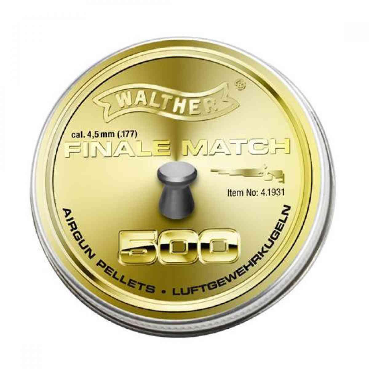 Chumbinho Para Pequena e Media Distancia Match 4,5 mm Com 500 Peças Rosi