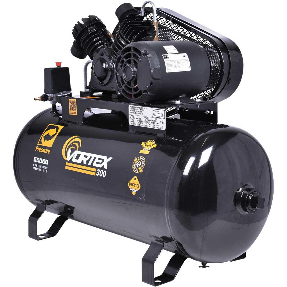 Compressor 10 Pcm V 100 Lts Vortex Pressure - 220/380V Trif