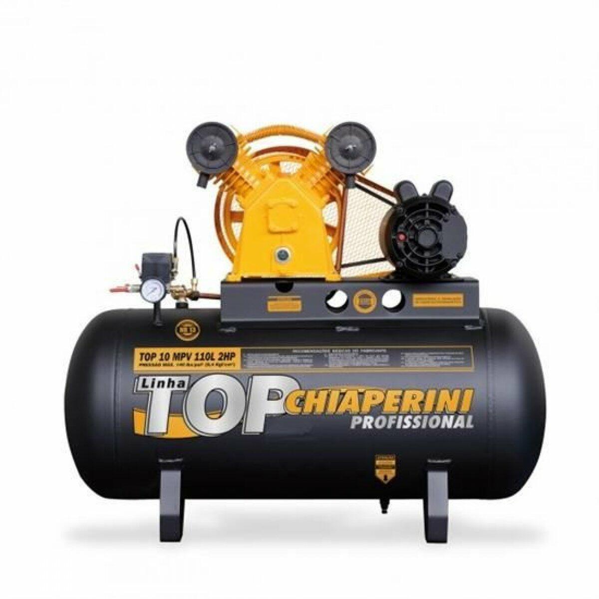Compressor De Ar 10 Pés 110 Litros Chiaperini TOP10MPV - 220/380V Trifásica