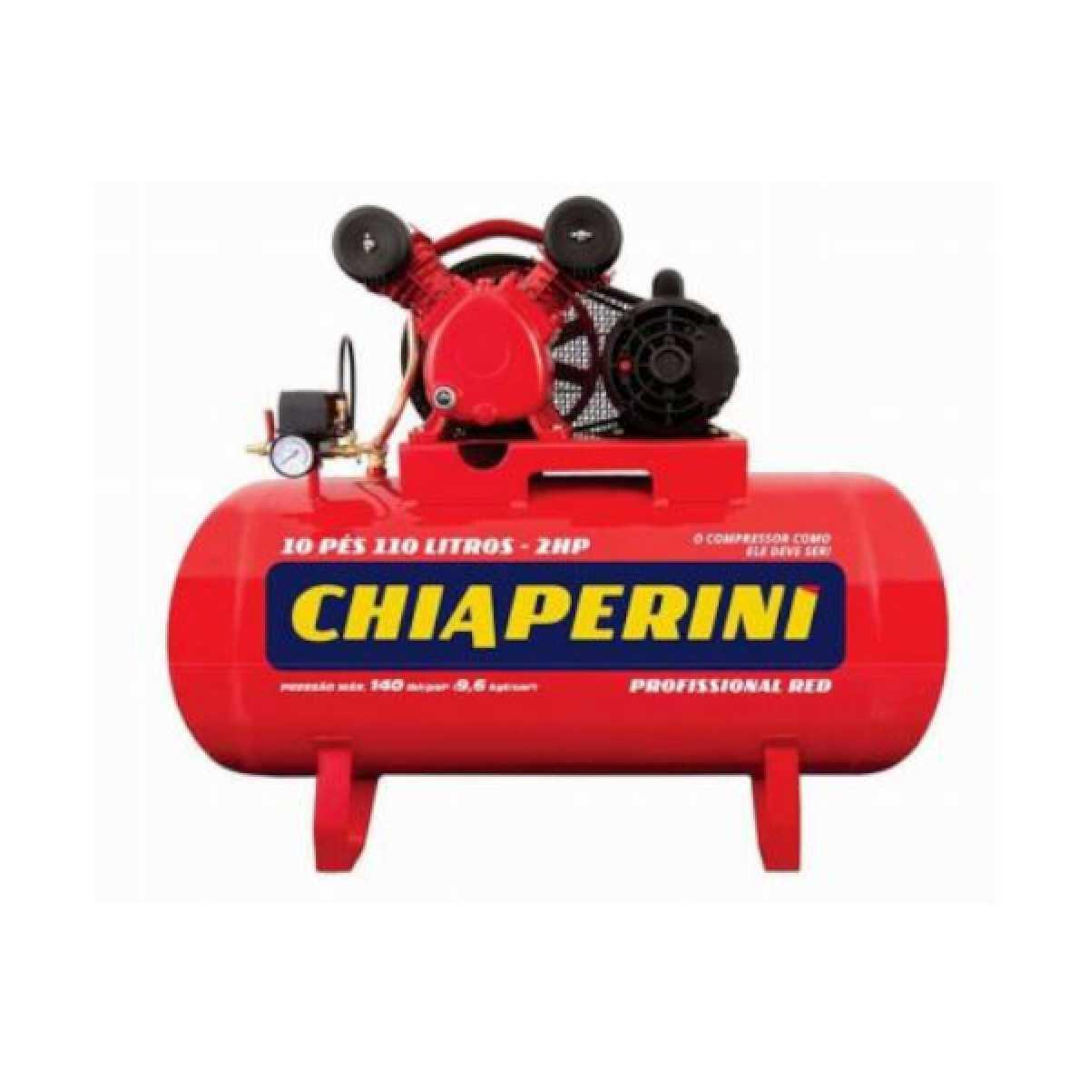 Compressor de Ar 10 Pés 110L Red Chiaperini