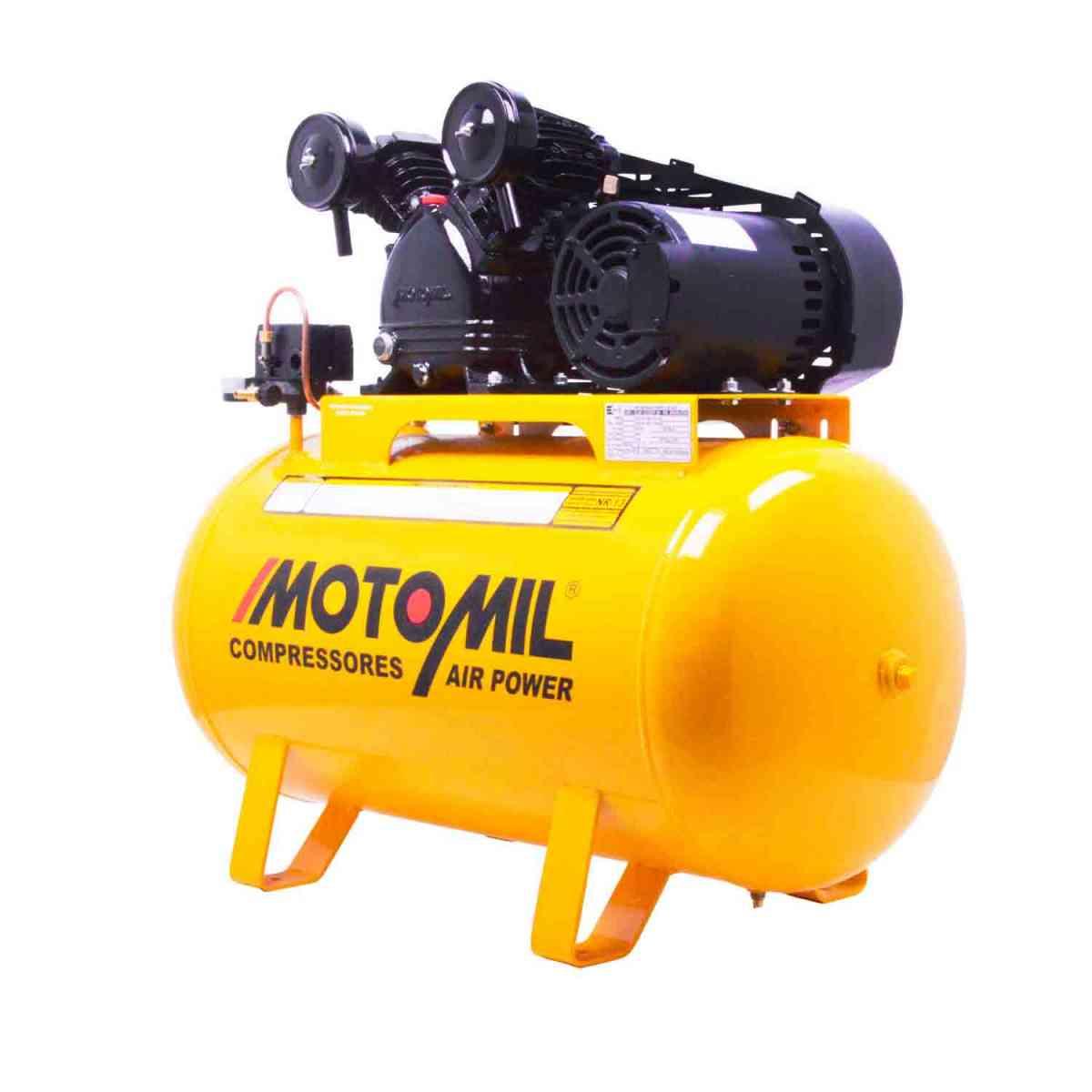 Compressor de Ar 10 Pés CMV 10PL/100 Motomil - 220/380V Trif