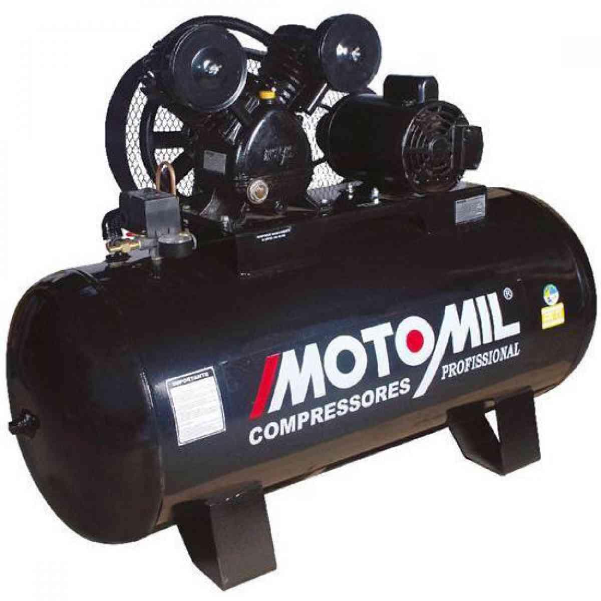 Compressor De Ar 15 Pés 175 Litros Motomil CMV-15/175 - 220/380V Trifásica