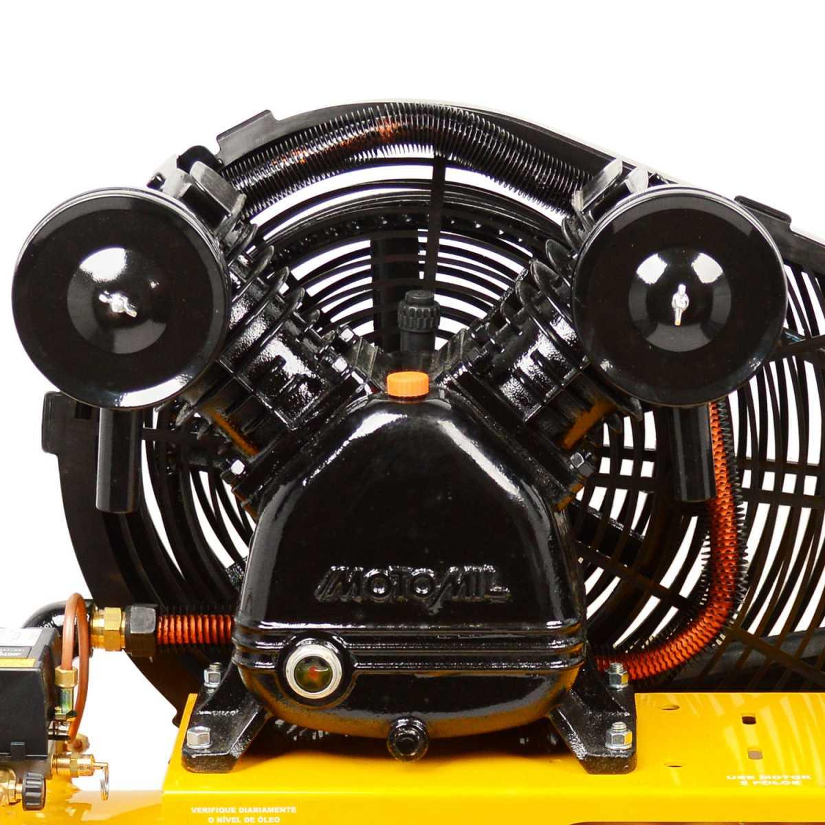 Compressor de Ar 20 Pés 200 L Cmv20Pl/200 Motomil -220/380V