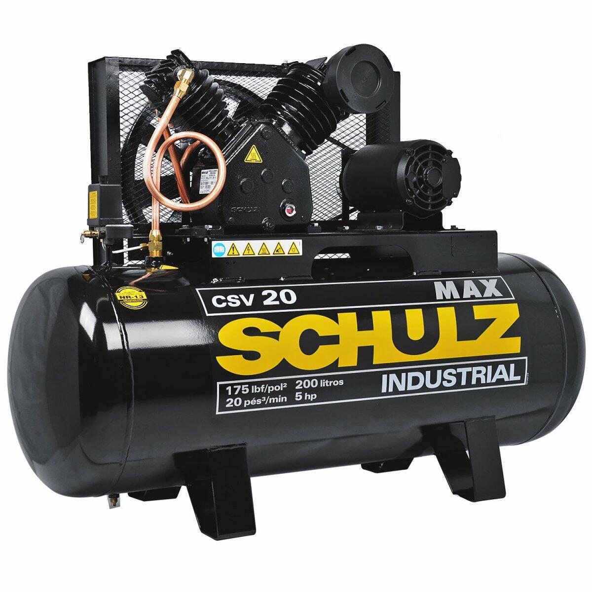 Compressor de Ar 20 Pés 200L MAX CSV Schulz - 220/380V