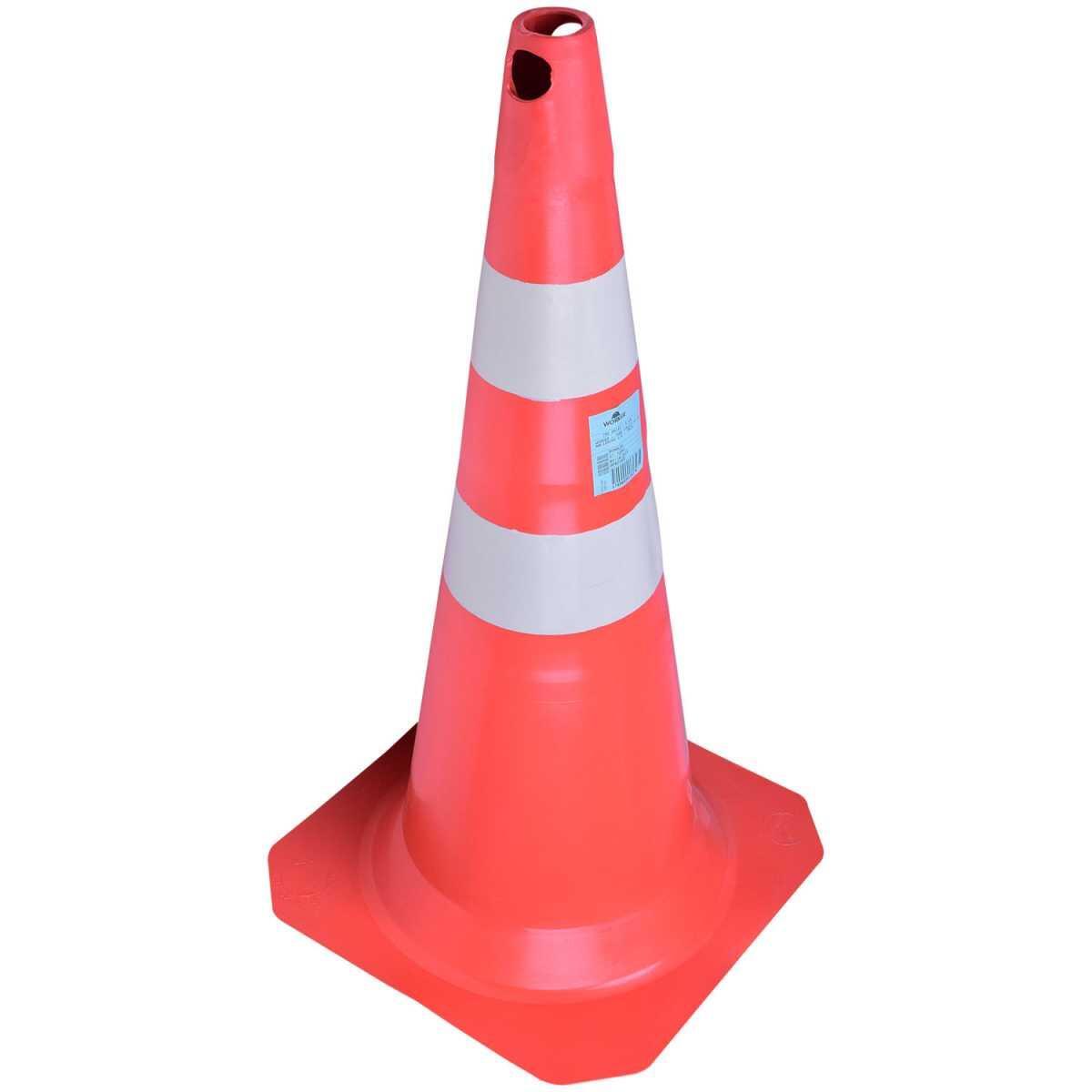 Cone para Sinalização em Pvc 75Cm Laranja e Branco Worker