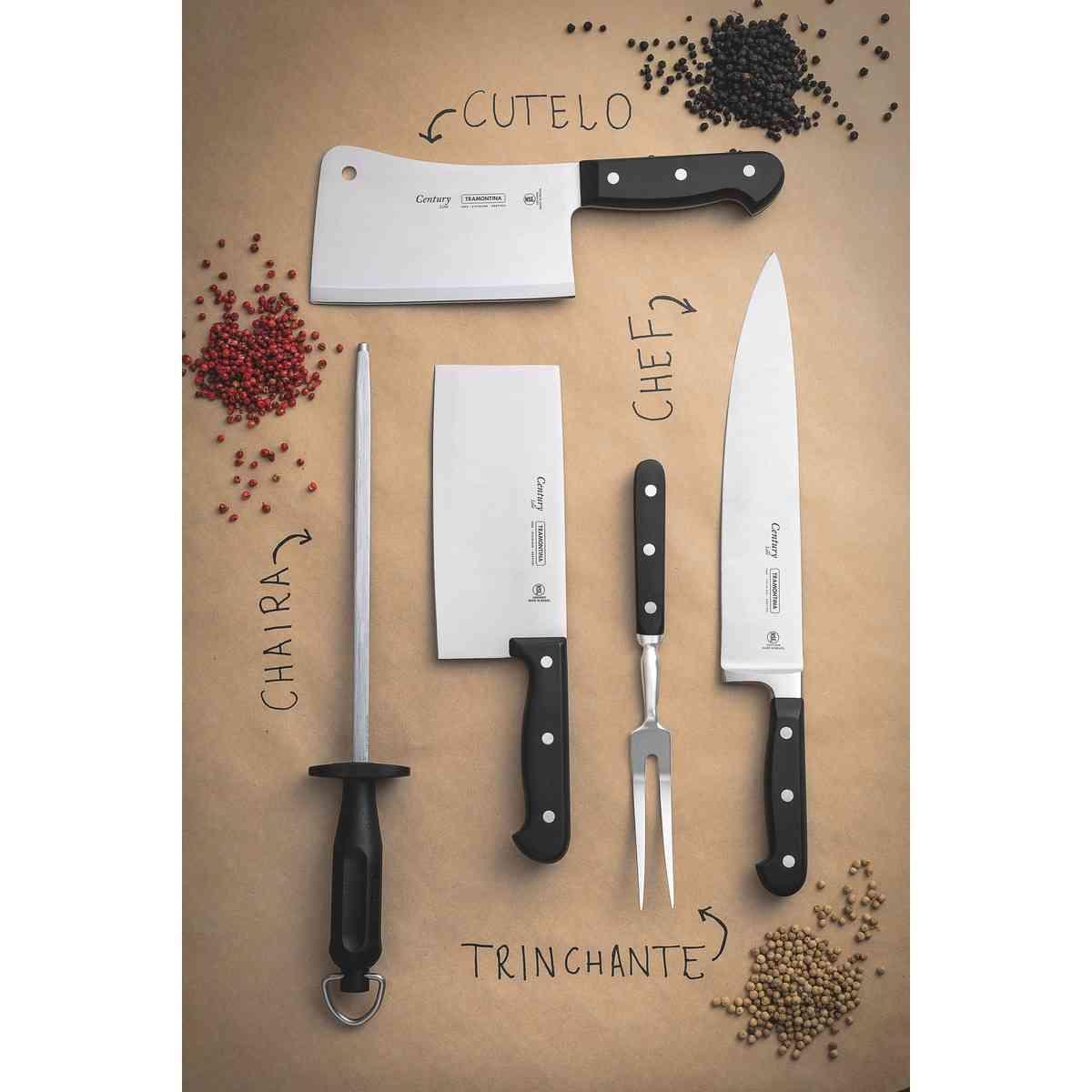 """Cutelo Tramontina para Legumes 7"""" em Aço Inox Cabo Policarbonato com Fibra de Vidro Tramontina 24026107"""