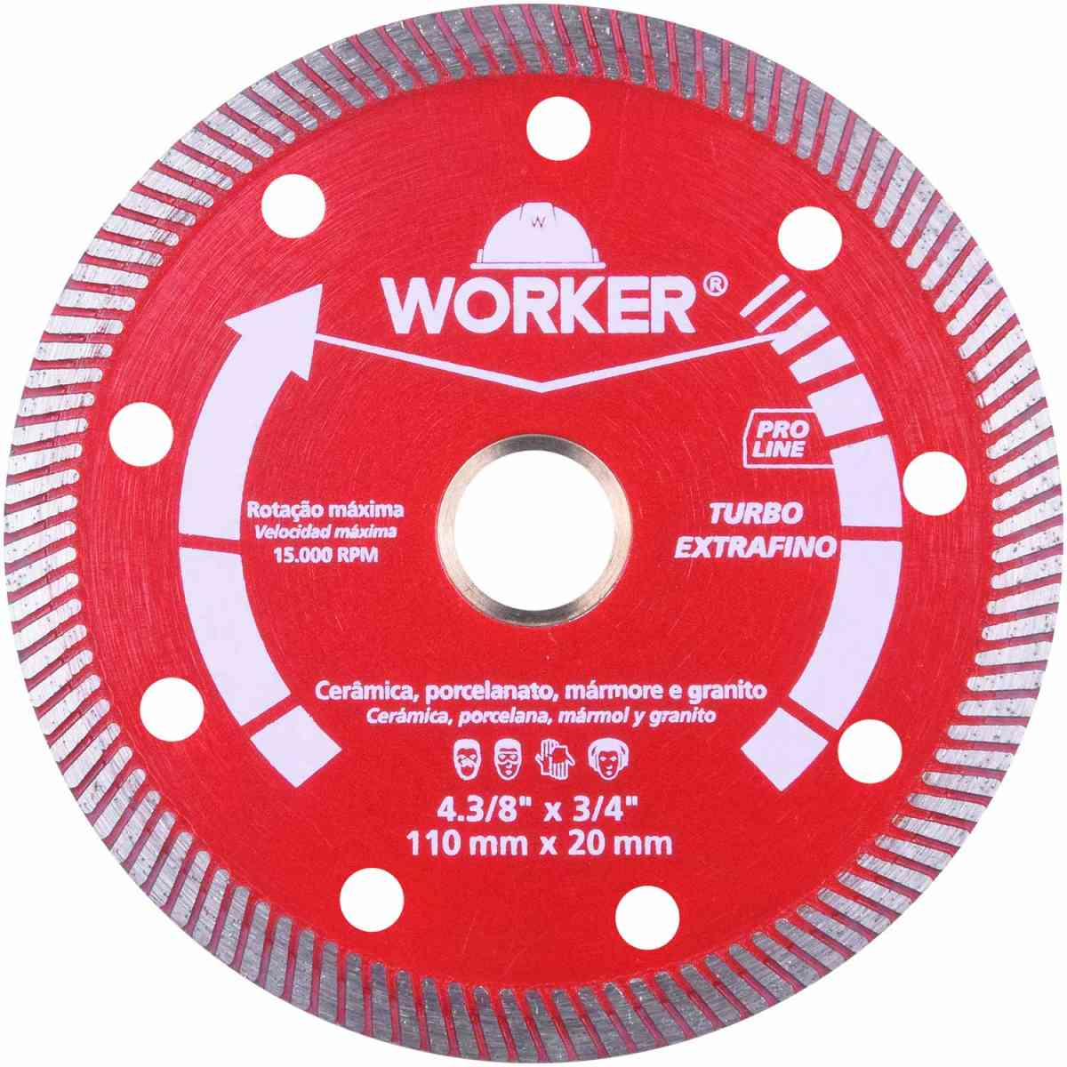 Disco Diamantado Turbo Extrafino 110 X 20Mm Worker