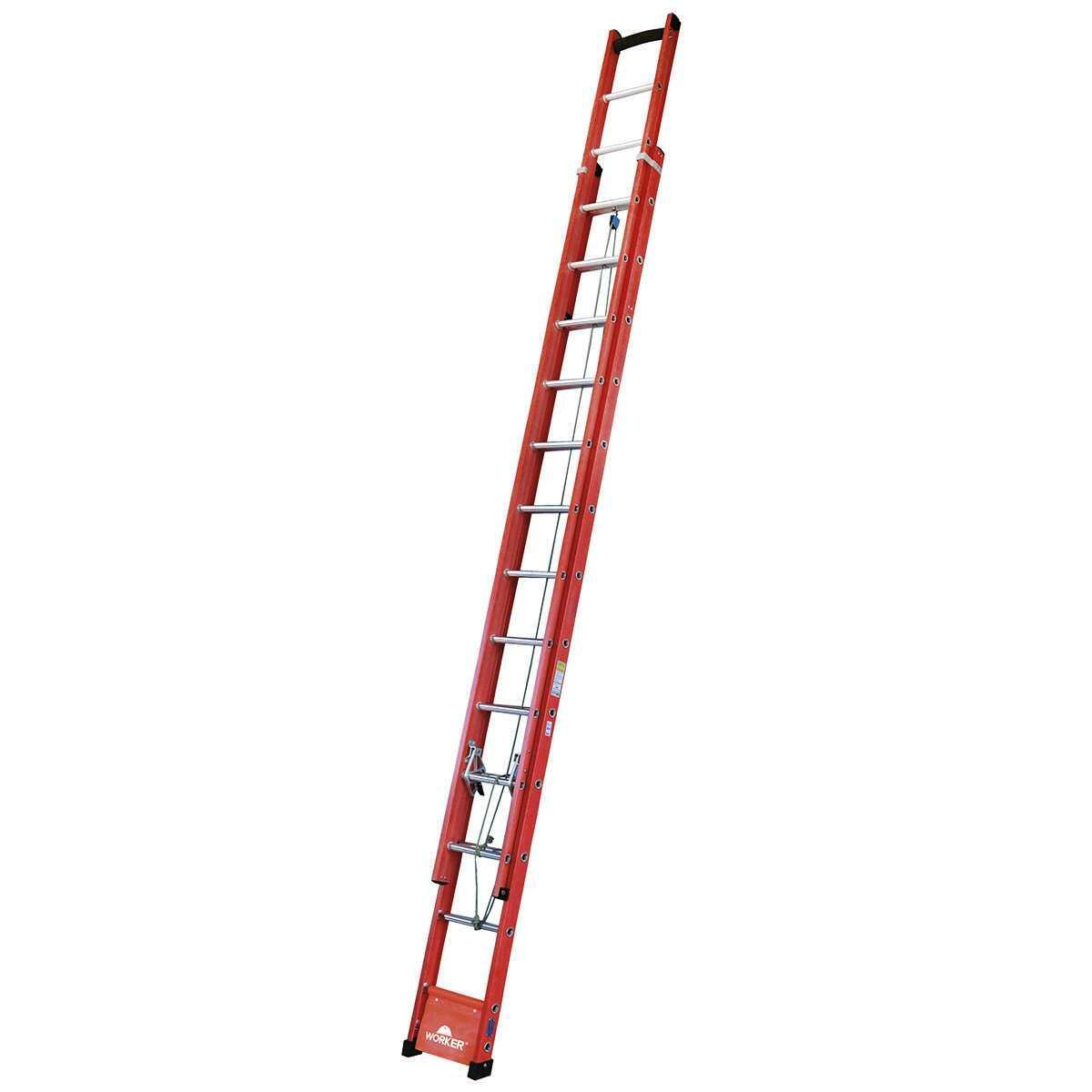 Escada de Fibra Extensiva 24 Degraus 7,20M Worker