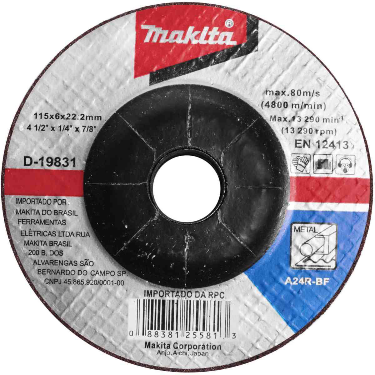 Esmerilhadeira Angular 840W Com Disco Ga2016p Makita - 220V