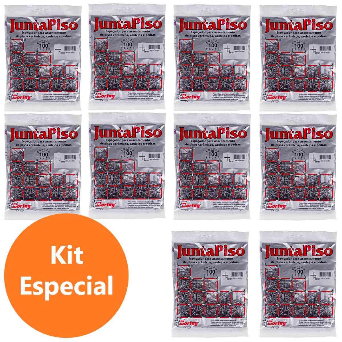 Espaçador de Junta de Piso 1 mm Cinza Cortag – 10 Pacotes