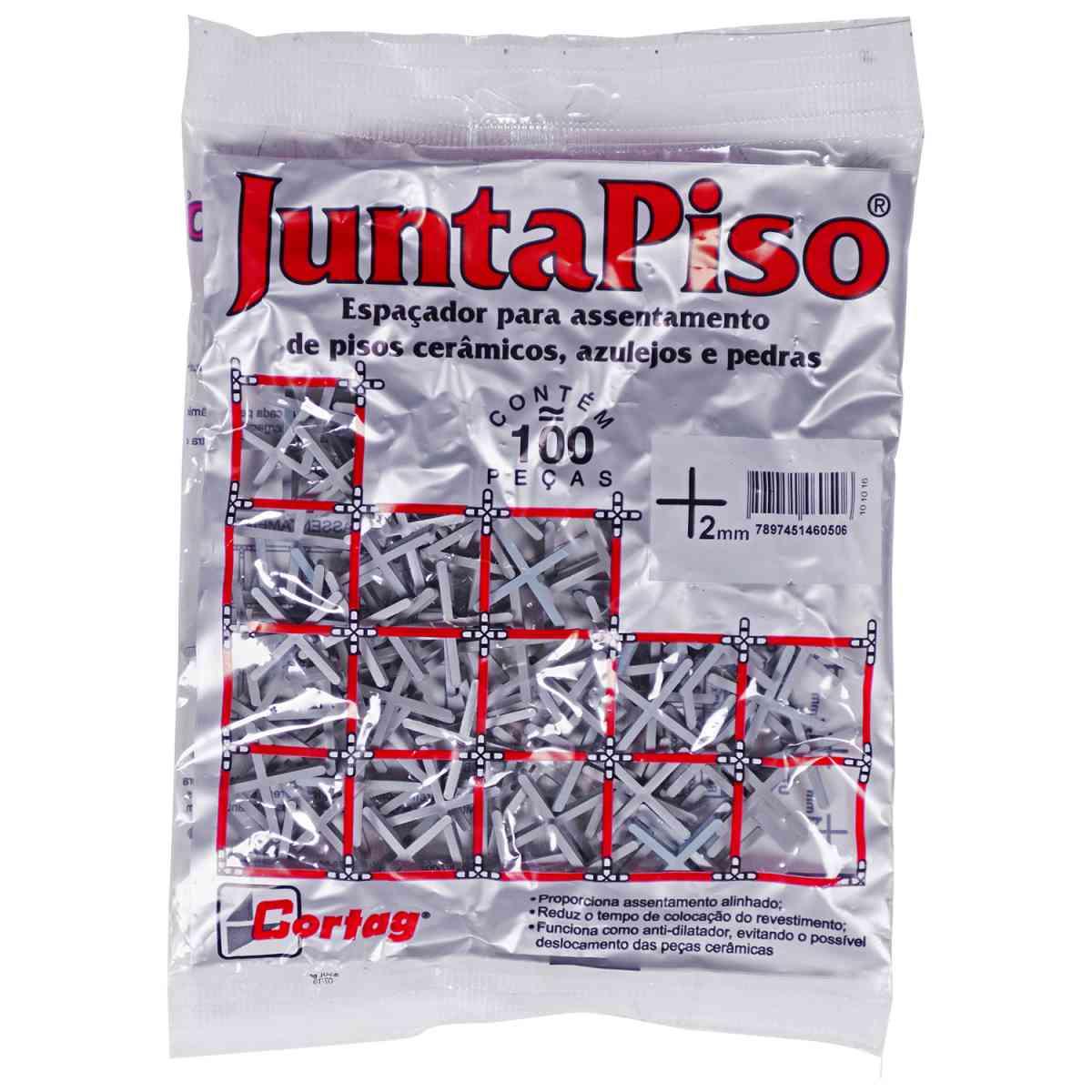 Espaçador de Junta de Piso 2 mm Cinza Cortag – 10 Pacotes