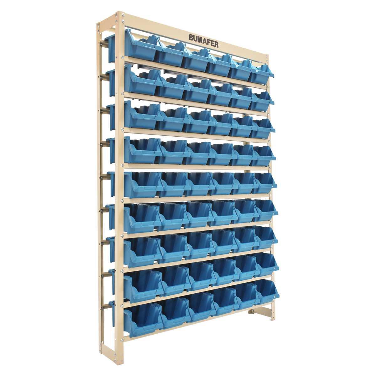 Estante Gaveteiro com 54 Gavetas Nº 5 Cor Azul 27406 Bumafer