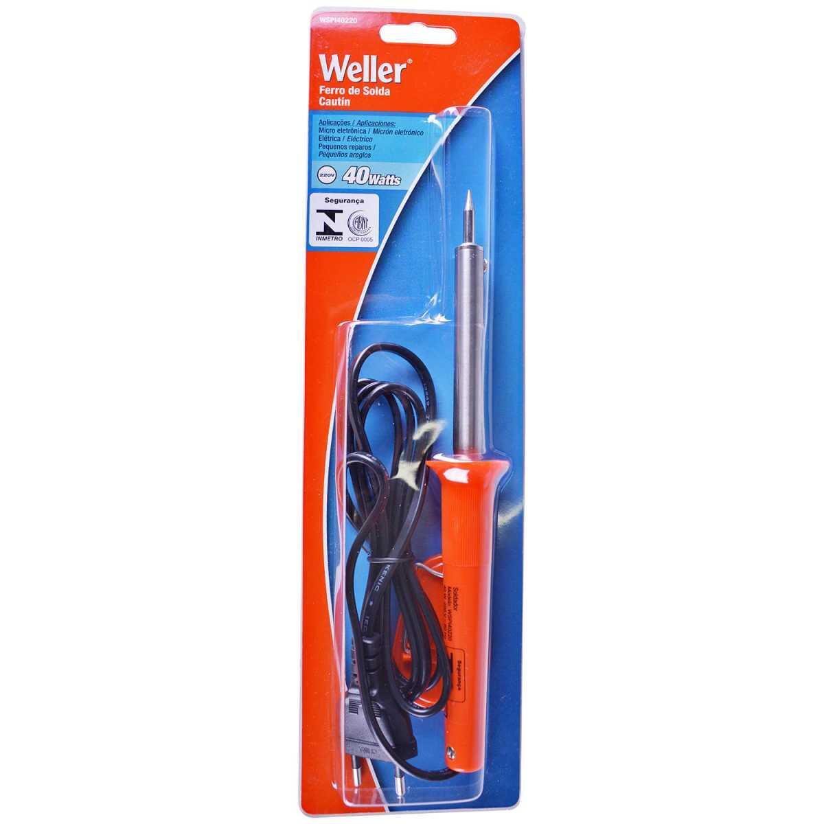 Ferro de Solda 40Watts 220V Weller Wspi40220