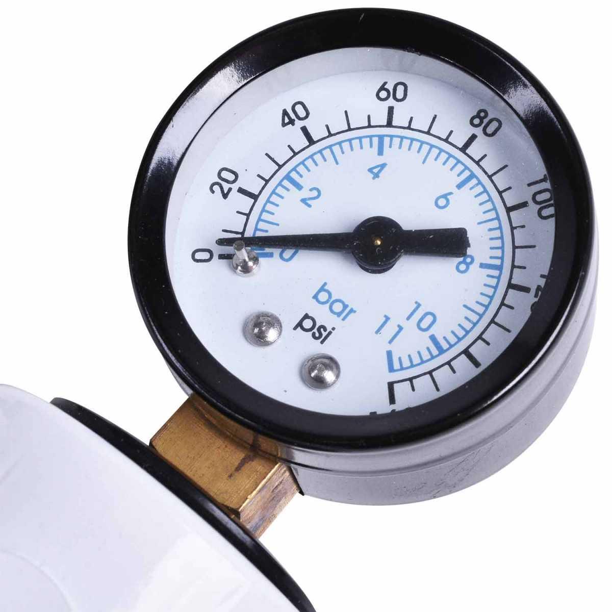 "Filtro Regulador de Ar Odontológico Quadruplo Mini 1/4"" Cj041-M Pressure"