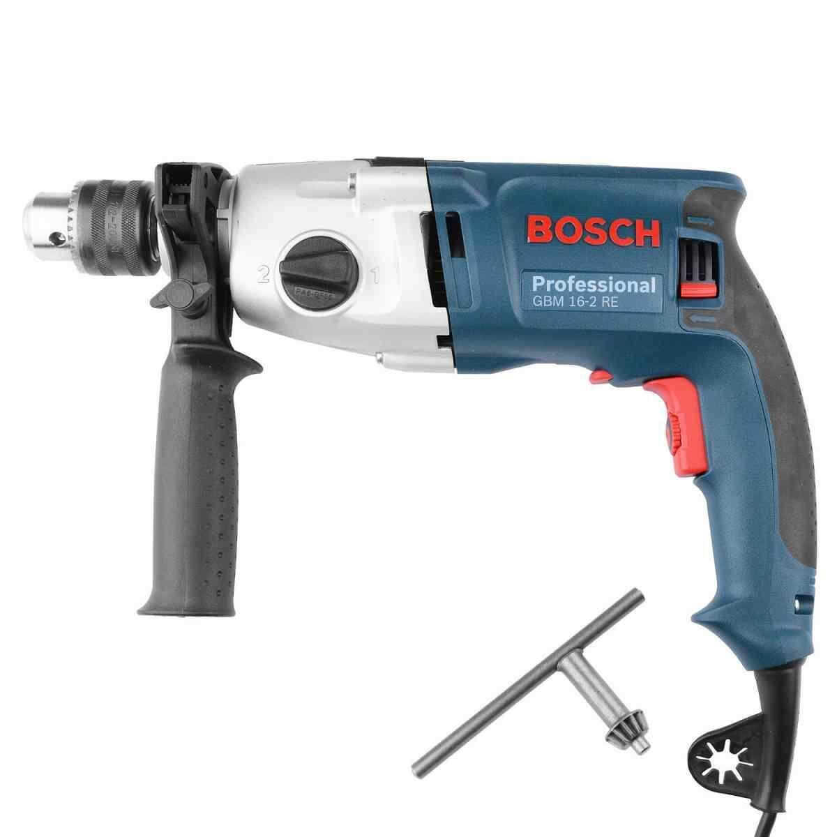 "Furadeira S/Impacto VVR 1/2"" 800 W 220 V 2 vel. GBM16-2RE Bosch"