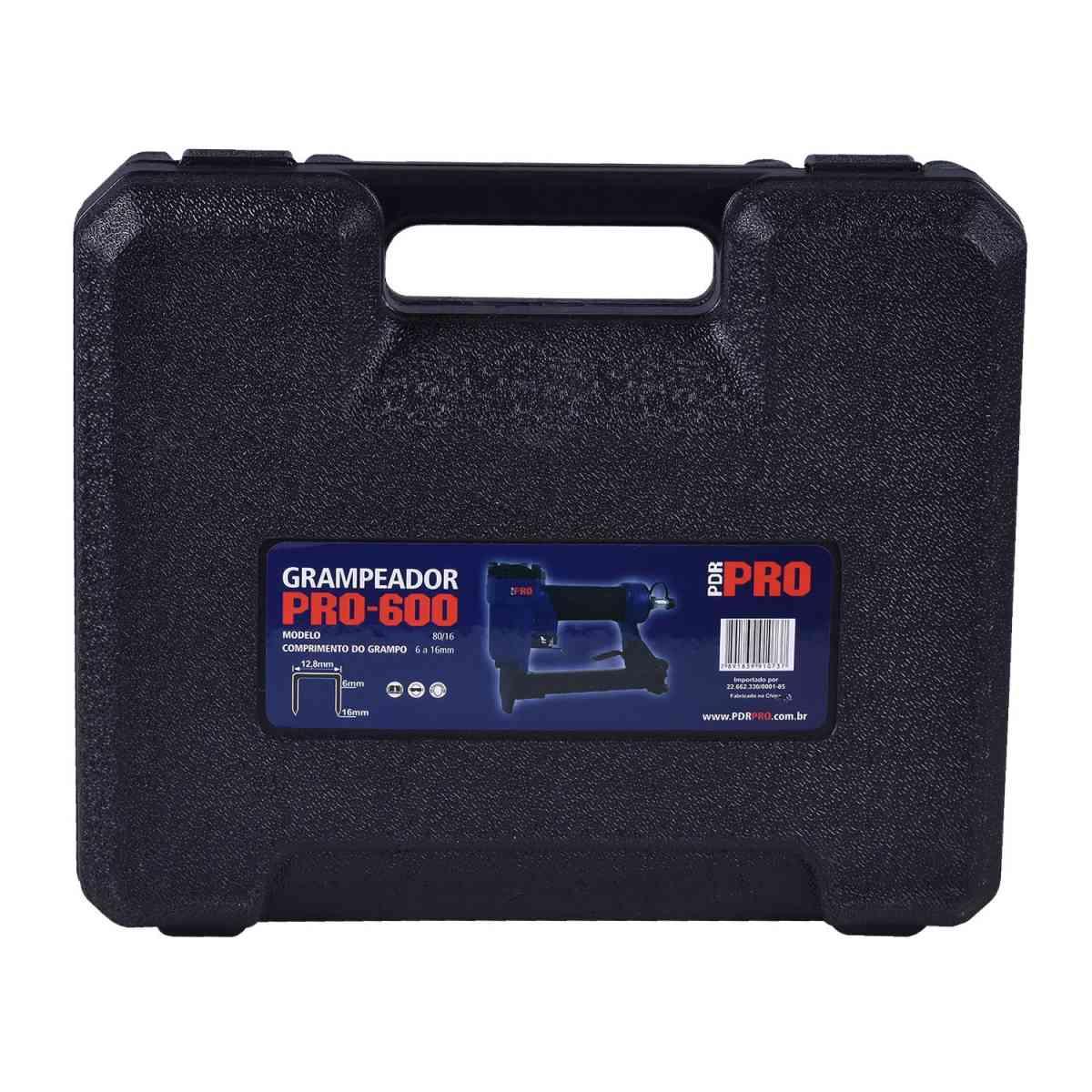 Grampeador Pneumático 6-16Mm Pro-600 LDR-PRO