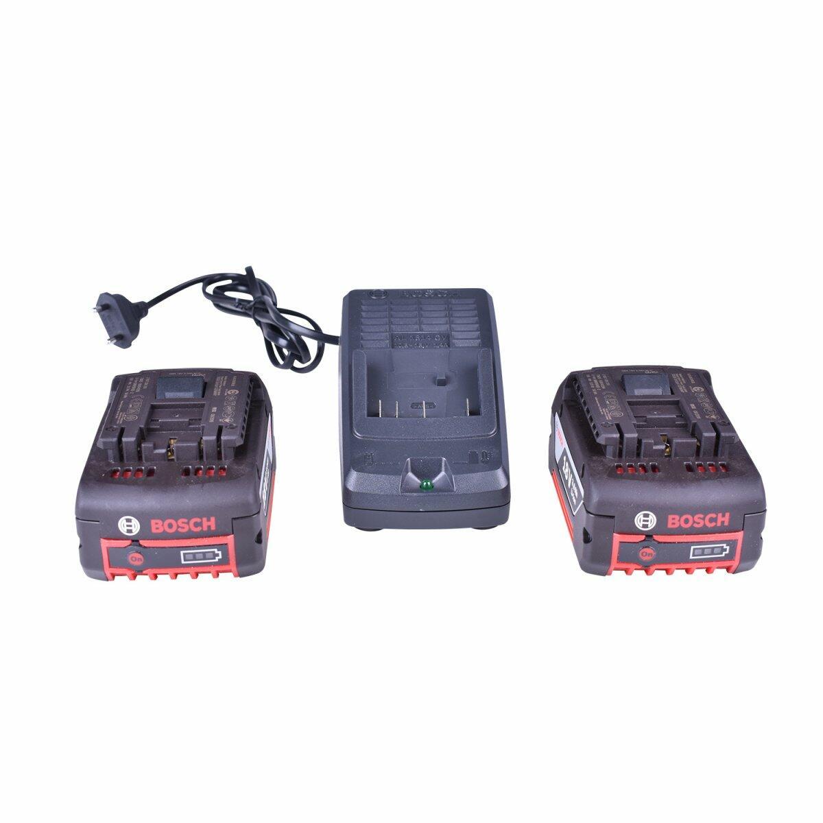 """Lanterna Gho18V-Li + Esmerilhadeira Angular 5"""" Gws18V-Li 18V + Carregador com 2 Baterias 18V + Bolsa Para Ferramentas Bosch"""