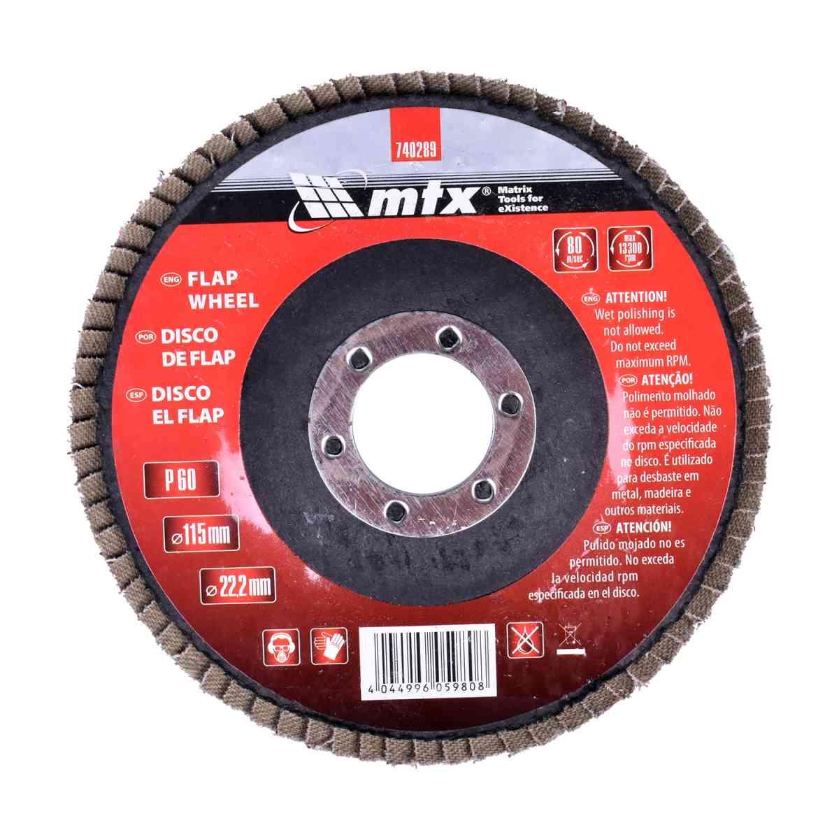 Lixa Disco Flap 115 × 22 mm G60 Mtx
