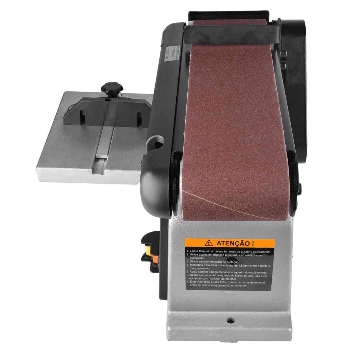 Lixadeira Disco Cinta 100x914mm MR-47 Manrod - 220V Monofásica