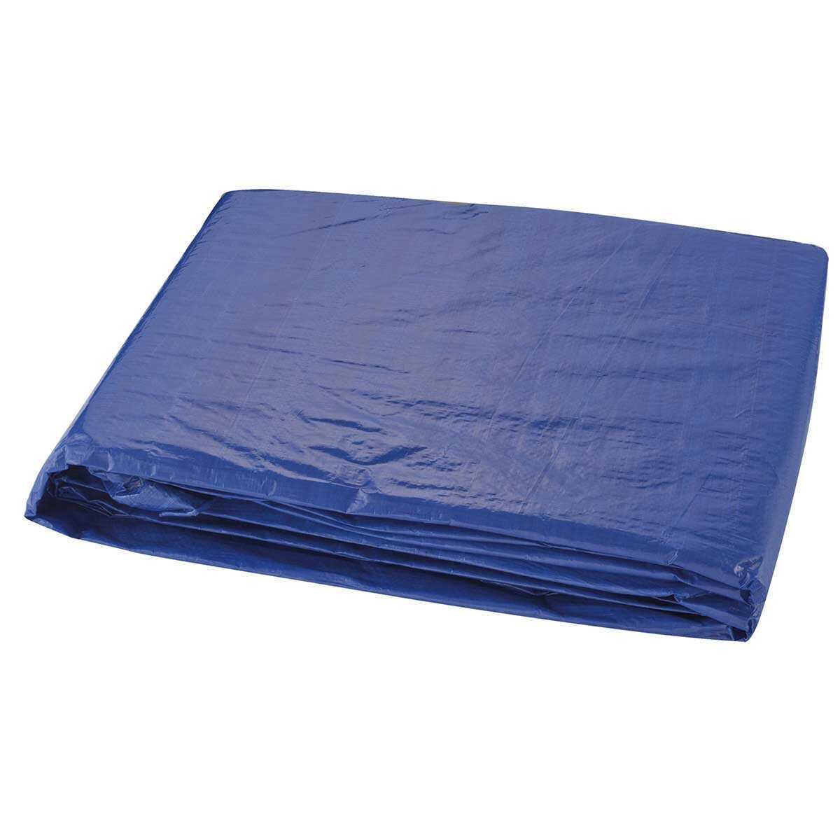 Lona Encerado Polietileno 100 Micras 8Mx6M Azul Kala