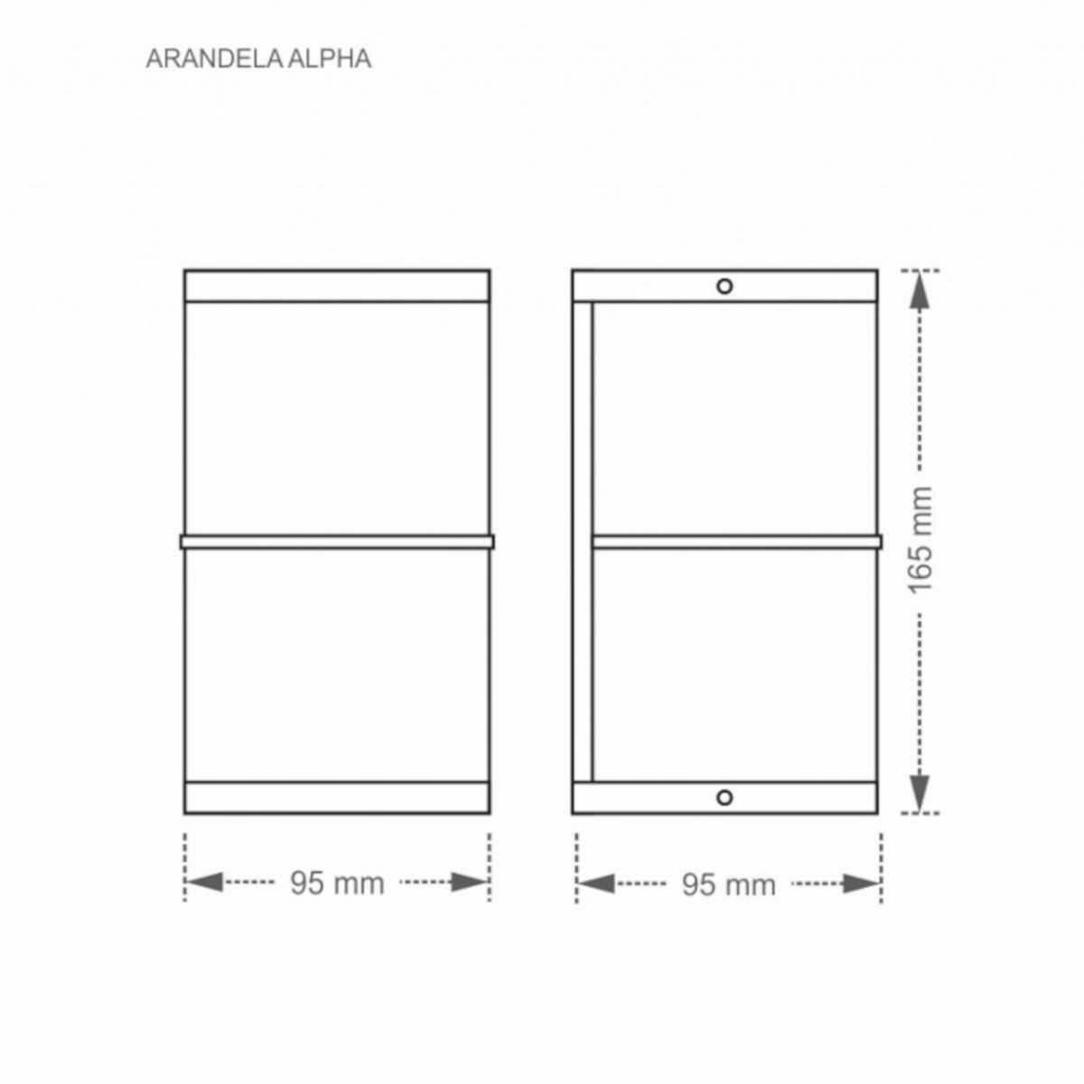 Luminária Arandela Alpha W1W G9 25W Branca Taschibra