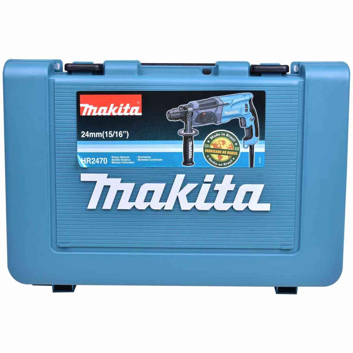 Martelete Perfurador Rompedor 800W c/ Maleta HR2470MA Makita 220V